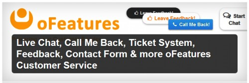 Live Chat, Call Me Back, Ticket System