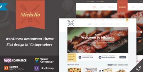 Michello - WordPress Restaurant WooCommerce Theme