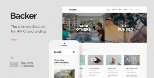 Backer - Modern WordPress Crowdfunding Theme