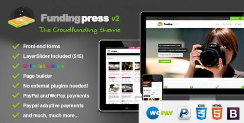 Fundingpress - Crowdfunding WordPress Theme