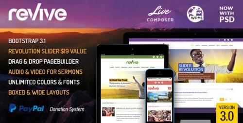 Revive: Events & Donations WordPress Theme