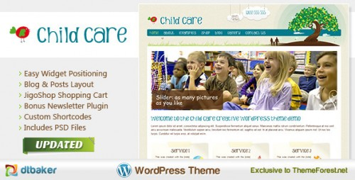 Child Care Creative - WordPress Shop and Kids Theme