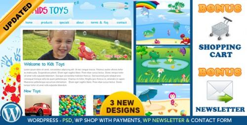 Kids Toys - WordPress Shop Theme