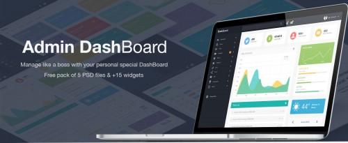 Admin DashBoard Free UI PSD
