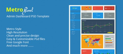 MetroPanel - Admin Dashboard PSD Template