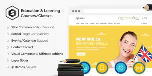 Skilled - Education Courses WordPress Theme