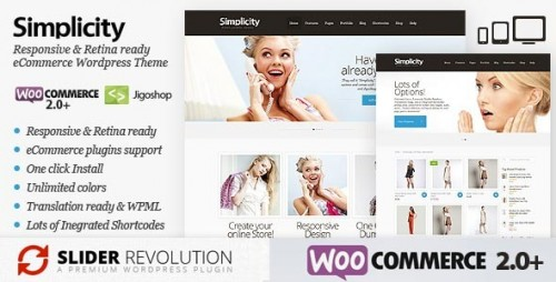 Simplicity - eCommerce Responsive WordPress Theme