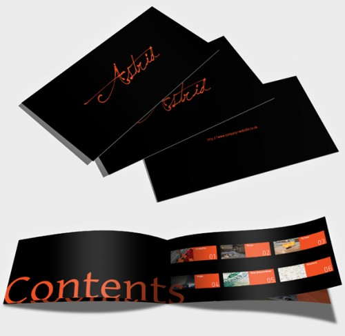 Free Horizontal Brochure Design