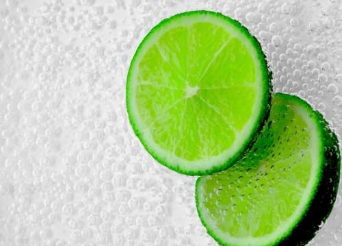 Green Citrus Fruit Slices