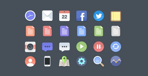 Beautiful Free Flat Icons