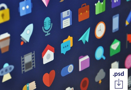 Stylish Free Flat Icons