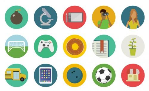 Free Flat Round Icons