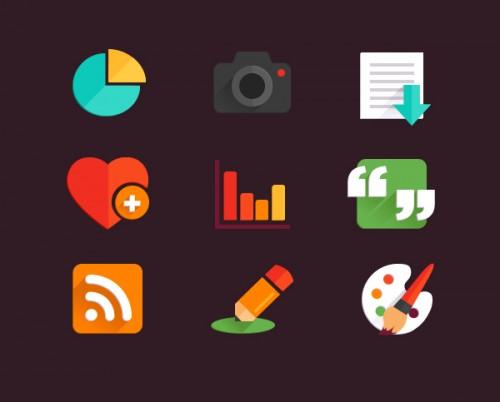Free Web Flat Icons