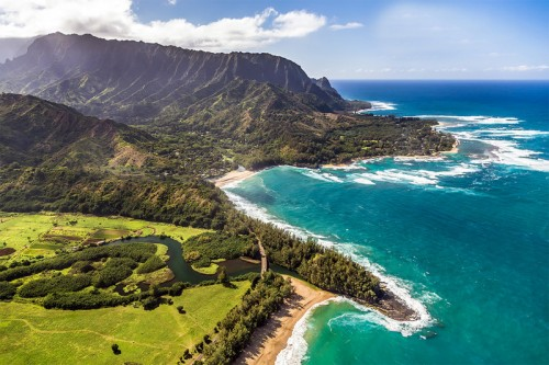 Aerial Photography of Kauai's North Shore
