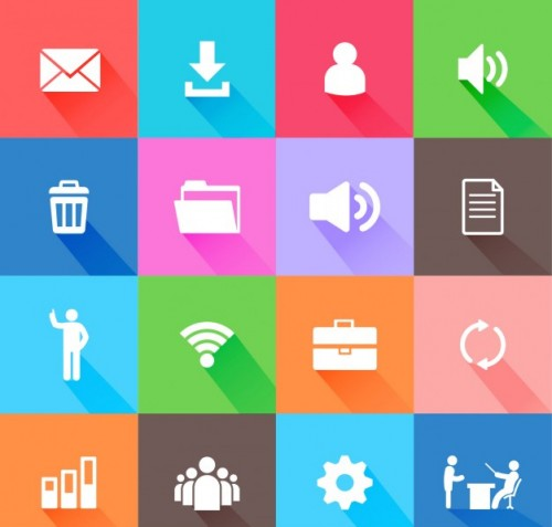 Flat Web Elements Icons