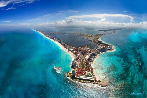 High Resolution Aerial Cancun Photography