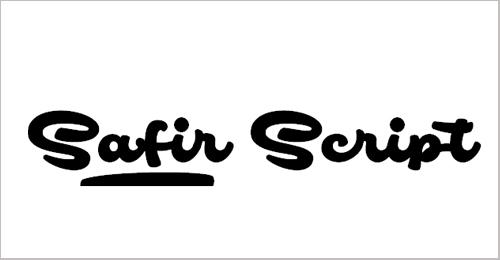 Safir Script Font