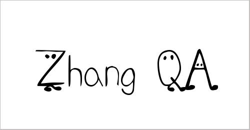 Zhang QA Font